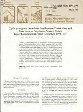Cydia Youngana (Kearfott) (Lepidoptera:Tortricidae) and Associates in Engelmann Spruce Cones, Fraser Experimental Forest, Colorado 1974-1977