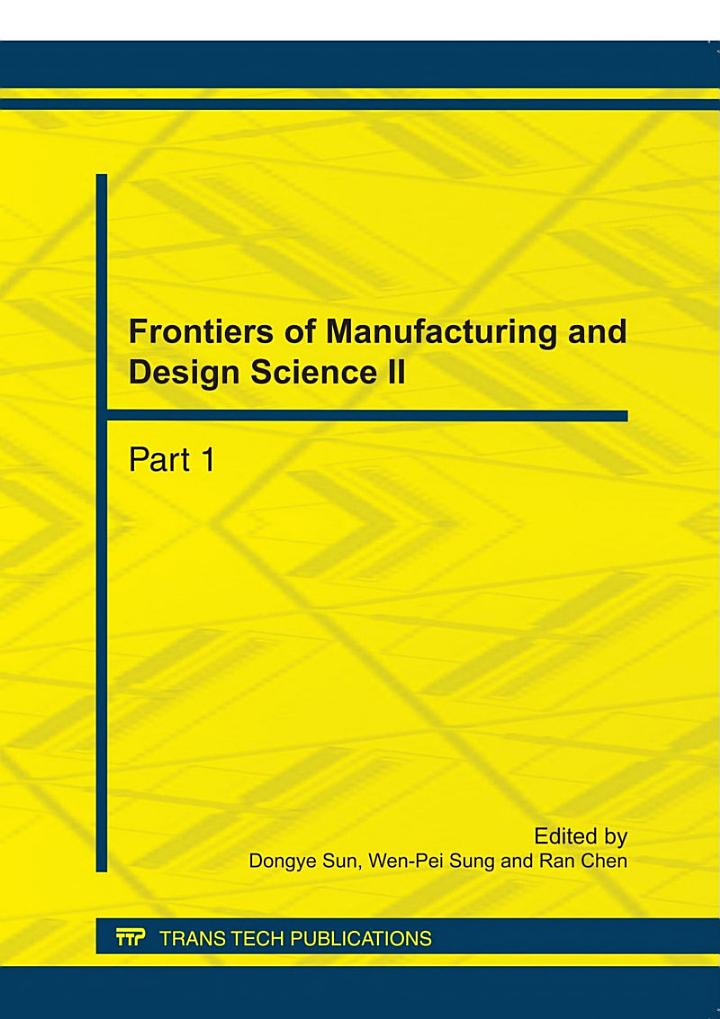 Frontiers of Manufacturing and Design Science II