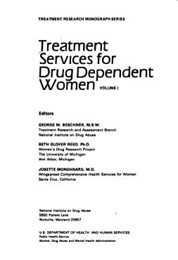 Treatment Services for Drug Dependent Women PDF
