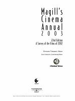 Magill s Cinema Annual PDF