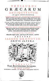 Thesaurus Graecarum antiquitatum: Volume 1