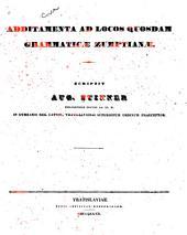 Additamenta ad locos quosdam Grammaticæ Zumptianæ