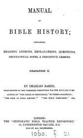 Manual of Bible history. Gradation 1-3