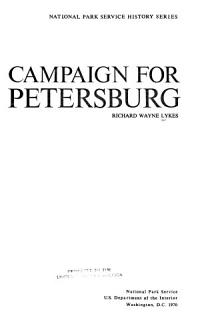 Campaign for Petersburg Book