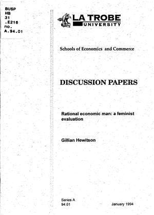 Rational Economic Man PDF