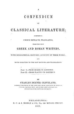 A Compendium of Classical Literature