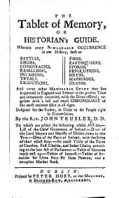 The Historian's Guide. The Tablet of Memory, or Historian's Guide, etc