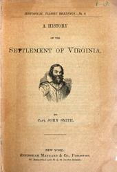 A History of the Settlement of Virginia