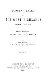 Popular Tales of the West Highlands: Orally Collected, Volume 2