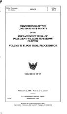 Proceedings of the United States Senate in the Impeachment Trial of President William Jefferson Clinton  Floor trial proceedings PDF