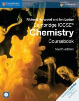 Cambridge IGCSE Chemistry Coursebook with CD ROM PDF