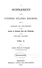 United States Digest: Digest of the Decisions of the Courts of Common Law and Admiralty in the United States, Volume 4