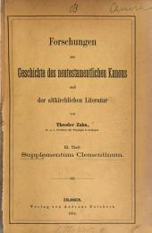 Forschungen zur Geschichte des neutestamentlichen Kanons und der altkirchlichen Literatur: Band 3