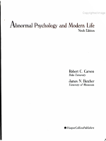 Abnormal Psychology and Modern Life PDF