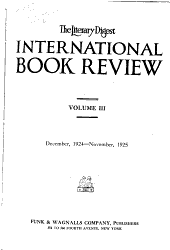 The Literary Digest International Book Review PDF