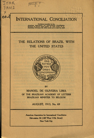 The Relations of Brazil with the United States PDF