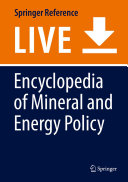 Encyclopedia of Mineral and Energy Policy PDF