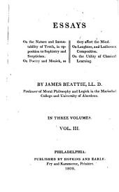 The Works of James Beattie: Essays
