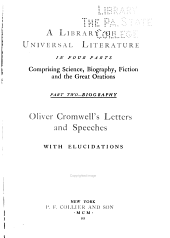 Oliver Cromwell's Letters and Speeches with Elucidations: Volume 2