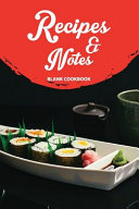 Recipes   Notes Blank Cookbook Book