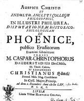 Disp. hist. phil. de phoenice