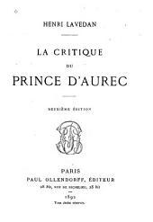 La critique du prince d'Aurec