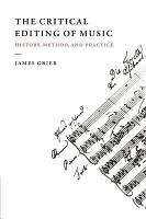 The Critical Editing of Music PDF