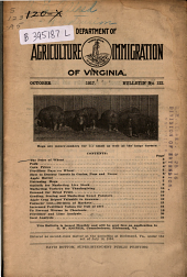 Bulletin - Virginia Department of Agriculture and Immigration: Issue 122