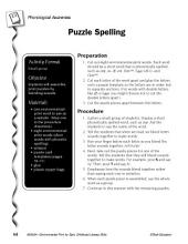 Environmental Print & Phonological Awareness: Puzzle Spelling