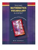 Teaching Mathematics Vocabulary in Context
