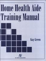 Home Health Aide Training Manual PDF