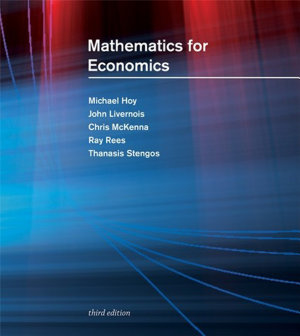 Mathematics for Economics  third edition PDF