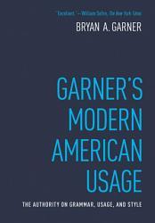 Garner S Modern American Usage Book PDF