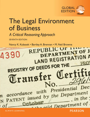 The Legal Environment of Business  Global Edition
