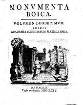 Monumenta Boica: Band 12
