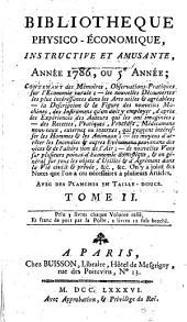Bibliothèque physico-économique: instructive et amusante. 1786,2