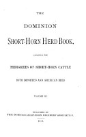 The Dominion Shorthorn Herd Book PDF
