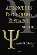 Advances in Psychology Research  Volume 107 PDF
