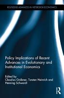 Policy Implications of Recent Advances in Evolutionary and Institutional Economics PDF