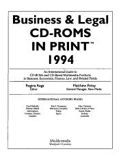 Business   Legal CD ROMS in Print PDF