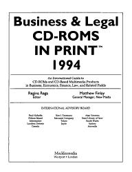 Business Legal Cd Roms In Print Book PDF