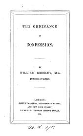 The ordinance of confession