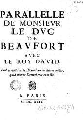 Parallèle de monsievr le dvc de Beavfort avec le roy David... [par Mercier de Poissy]