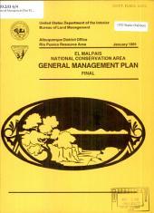 General Management Plan El Malpais National Conservation Area
