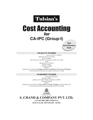 Cost Accounting with Quick Revision  For CA IPC  Group I   8th Edition