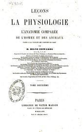 Leçons sur la physiologie et l'anatomie comparée de l'homme et des animaux: 2, Volume10