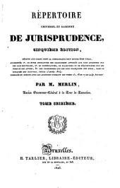 Répertoire universel et raisonné de jurisprudence: Volume16