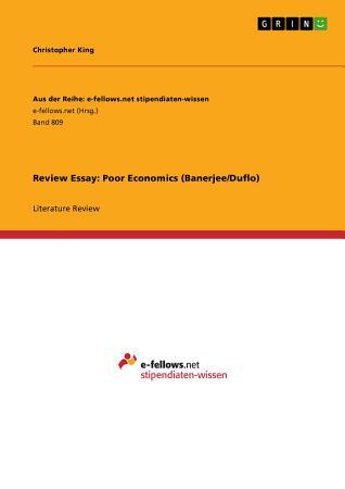 Review Essay  Poor Economics  Banerjee Duflo  PDF