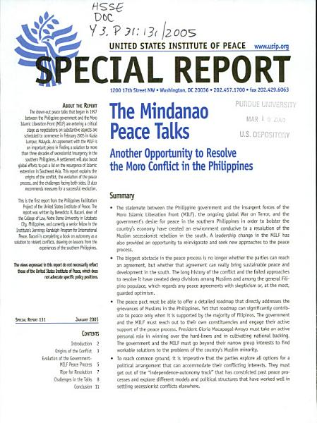 Download The Mindanao Peace Talks Book