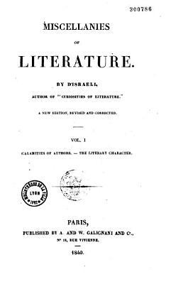 Miscellanies of Litterature PDF